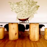 Pillars of Oak Dining Table